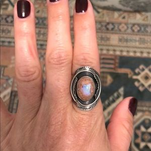 Jewelry - Handmade sterling and Mexican Fire Opal ring